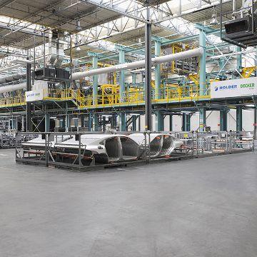 Anlage zum Reinigen und Passivieren von Aluminiumbauteilen