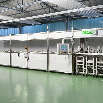 Compact pickling line for aluminium parts