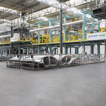Cleaning and passivating line for aluminium parts