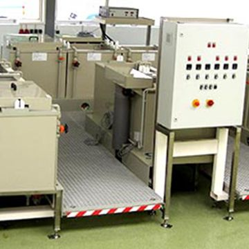 Open manual line for hard anodizing